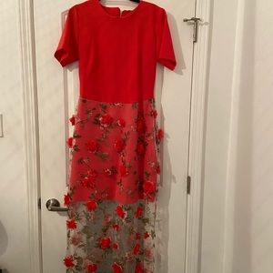 Custom made floral gown